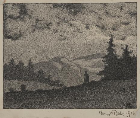 Ernst Pöche, Krajobraz górski