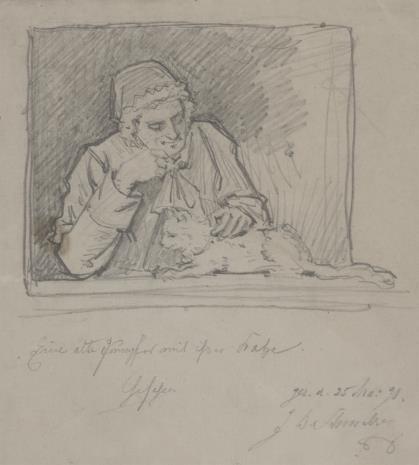 Bernhard Schmelzer, Staruszka głaszcząca kota