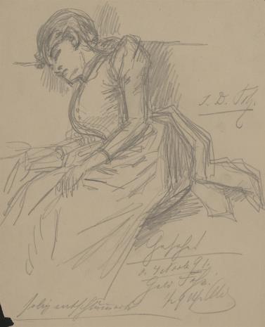 Bernhard Schmelzer, Szkic śpiącej kobiety