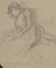 Szkic śpiącej kobiety