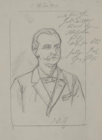 Bernhard Schmelzer, Studium portretowe mężczyzny