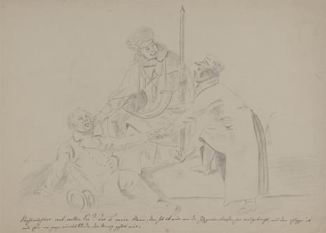 Bernhard Schmelzer, Pocztylion i dwaj mężczyźni