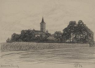 Widok kościoła w Kunnerwitz