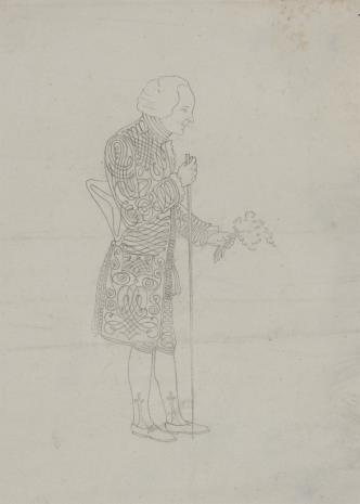 nieznany, Mężczyzna w ubiorze z XVIII w.
