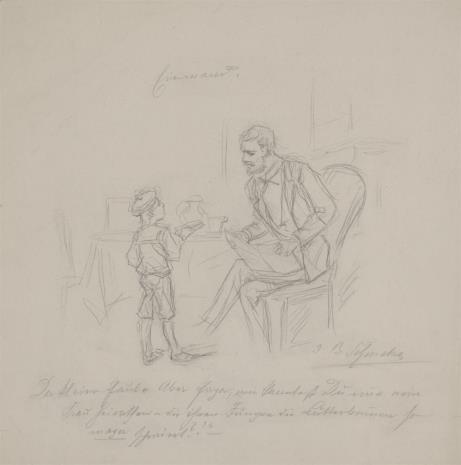 Bernhard Schmelzer, Rozmowa ojca z synem