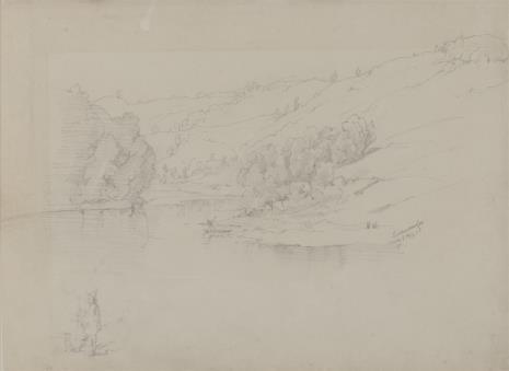 August von Wille, Krajobraz z jeziorem