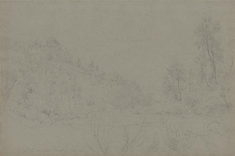 Rudolf Karl Bernhard von Türcke, Krajobraz z zamkiem na wzgórzu