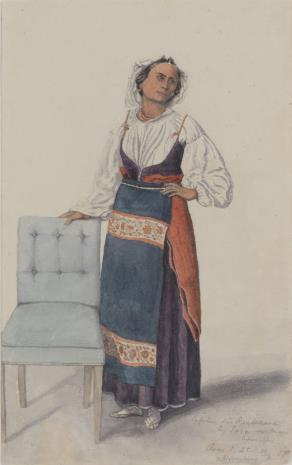 Oscar von Alvensleben, Kobieta z okolic Neapolu