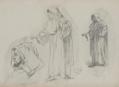 August von Wille, Studia zakonników
