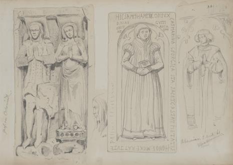 August von Wille, Trzy płyty nagrobne z kościoła w Oberweimar