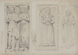 Trzy płyty nagrobne z kościoła w Oberweimar