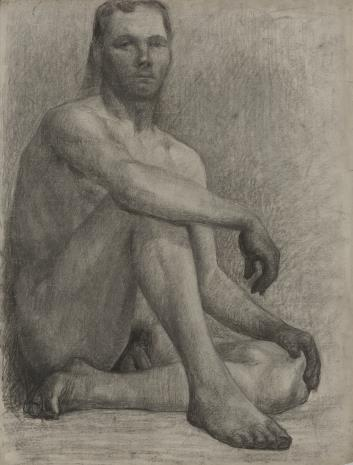 Henryk Kunzek, Akt siedzącego mężczyzny