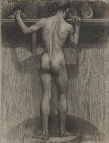 Henryk Kunzek, Akt stojącego tyłem mężczyzny
