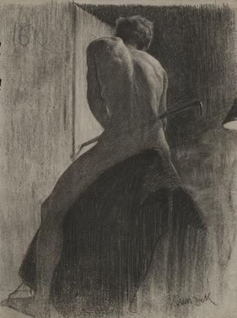 Henryk Kunzek, Studium aktu męskiego