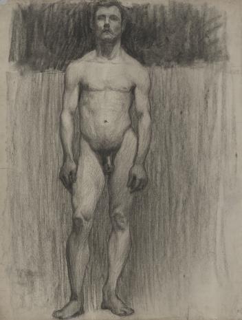 Henryk Kunzek, Studium aktu mężczyzny stojącego na wprost