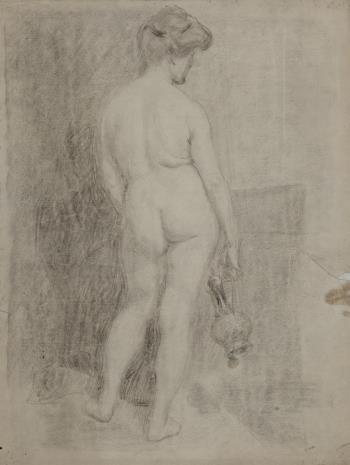 Henryk Kunzek, Studium aktu kobiety od tyłu