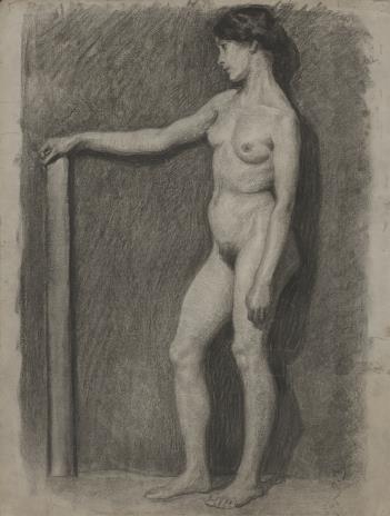 Henryk Kunzek, Studium aktu kobiety z wyciągniętą ręką