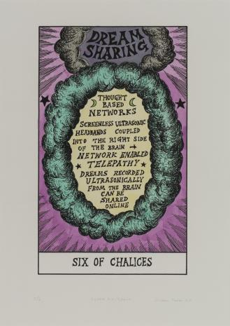 Suzanne Treister, HEXEN 2.0/Tarot/Six of Chalices - Dream Sharing / HEXEN 2.0/Tarot/ Szóstka Kielichów - Dzielenie się snami