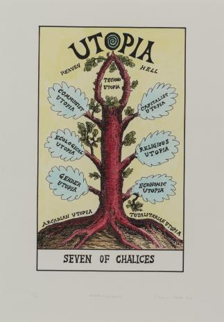 Suzanne Treister, HEXEN 2.0/Tarot/Seven of Chalices - Utopia / HEXEN 2.0/Tarot/ Siódemka Kielichów - Utopia