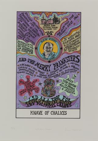 Suzanne Treister, HEXEN 2.0/Tarot/Knave of Chalices - Ken Kesey / HEXEN 2.0/Tarot/Walet Kielichów - Ken Kesey
