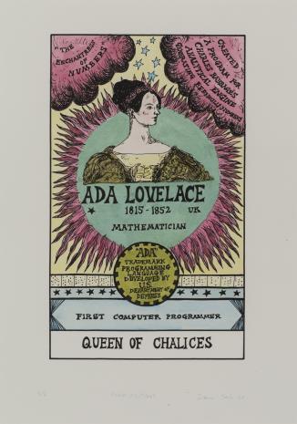Suzanne Treister, HEXEN 2.0/Tarot/Queen of Chalices - Ada Lovelace / HEXEN 2.0/Tarot/Królowa Kielichów - Ada Lovelace