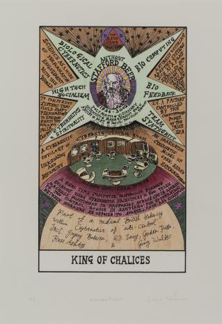 Suzanne Treister, HEXEN 2.0/Tarot/King of Chalices - Stafford Beer / HEXEN 2.0/Tarot/Król Kielichów - Stafford Beer