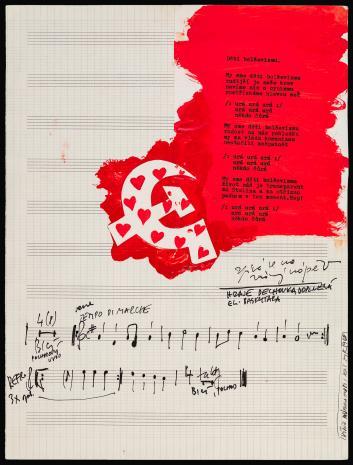 Milan Knížák,  Partytura zespołu Aktual [Dĕti bolševizmu]