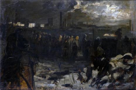 Stanisław Fabijański, Pogrzeb strajkującego