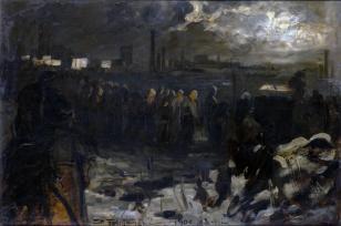 Pogrzeb strajkującego