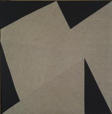 Obraz szyty szaro-czarny, z cyklu: Układy równowartościowe