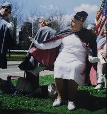 Członkinie Korpusu Pomocniczego Pań przy Stowarzyszeniu Weteranów Armii Polskiej w Ameryce, parada z okazji uchwalenia Konstytucji 3 Maja. Chicago, 2008
