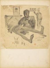Bez tytułu, z cyklu: Rysunki z Podola, lata 40-te XX wieku