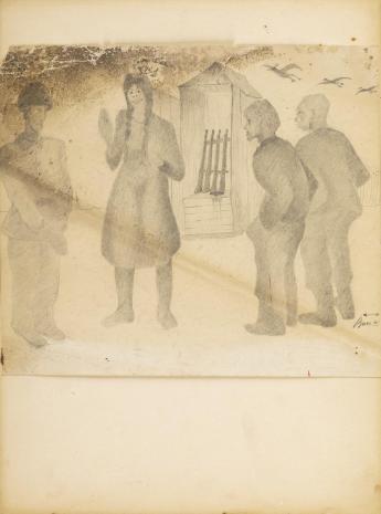 Leopold Buczkowski, Bez tytułu, z cyklu: Rysunki z Podola, lata 40-te XX wieku