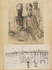 Bez tytułu, z cyklu: Prace o tematyce wojennej z lat 1941-1945