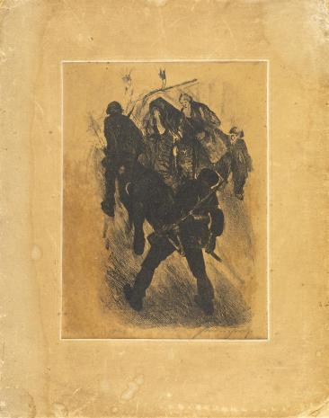 Leopold Buczkowski, Patrol sanitarny, z cyklu: Litografie z wystawy we Lwowie 1931