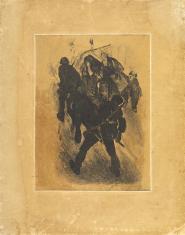 Patrol sanitarny, z cyklu: Litografie z wystawy we Lwowie 1931