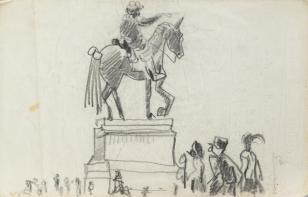 Bez tytułu, z cyklu: Notatki rysunkowe z Paryża, Londynu, Warszawy