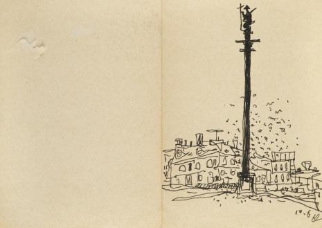 Leopold Buczkowski, Bez tytułu, z cyklu: Notatki rysunkowe z Paryża, Londynu, Warszawy