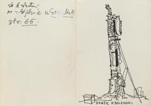 Zamek Królewski, z cyklu: Notatki rysunkowe z Paryża, Londynu, Warszawy