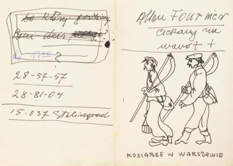 Leopold Buczkowski, Kosiarze w Warszawie, z cyklu: Notatki rysunkowe z Paryża, Londynu, Warszawy