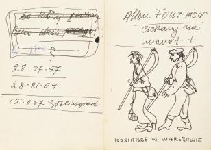 Kosiarze w Warszawie, z cyklu: Notatki rysunkowe z Paryża, Londynu, Warszawy