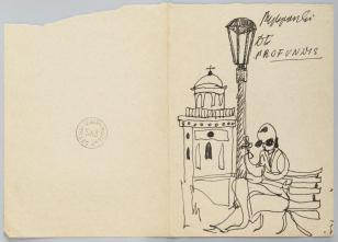 De Profundis, z cyklu: Notatki rysunkowe z Paryża, Londynu, Warszawy