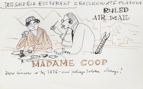 Leopold Buczkowski, Tate Galeria Restaurant, z cyklu: Notatki rysunkowe z Paryża, Londynu, Warszawy