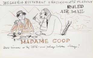 Tate Galeria Restaurant, z cyklu: Notatki rysunkowe z Paryża, Londynu, Warszawy