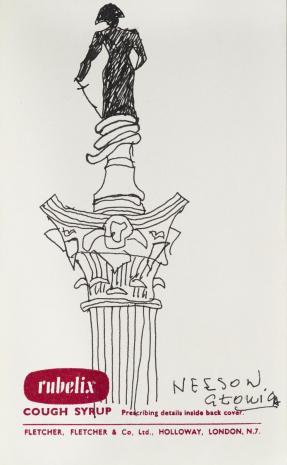Leopold Buczkowski, Nelson Głowica, z cyklu: Notatki rysunkowe z Paryża, Londynu, Warszawy