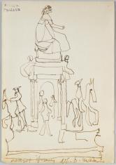 Maria Teresa, z cyklu: Notatki rysunkowe z Paryża, Londynu, Warszawy
