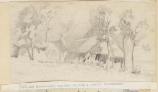Widoki z okolic Krzemieńca, z cyklu: Rysunki z Podola, lata 30-te XX wieku