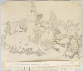 Za Górą Boną, z cyklu: Rysunki z Podola, lata 30-te XX wieku