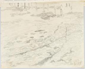 Uliczka Szumska, Krzemieniec, z cyklu: Rysunki z Podola, lata 30-te XX wieku