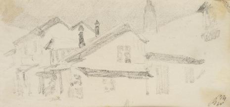 Leopold Buczkowski, Uliczki Krzemieńca, Krawiecka, z cyklu: Rysunki z Podola, lata 30-te XX wieku